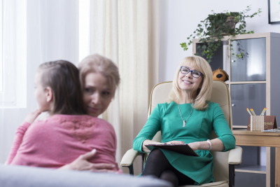 Successful family psychotherapy concept
